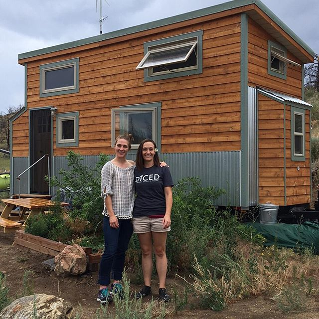 Even cloudy days are bright and shiny when your best friend comes to visit!! Wishing I had some Diced salads right about then. . . @lauralooburn @diced_salads the best salads in NC (and maybe CO one day???) . . #tinyhouse #tinyhousemovement #tinyvacation #tinyliving #tinyparadise #vacation #outdoors #colorado #hungry #salads #airbnb #bff #sincewewere3 #workinghard #lovingwhatido