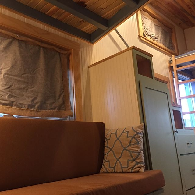 My curtains are up and spectacular! A little wrinkly but the reflective insulation keeps the sun out extremely well! . . . . . . #tiny #tinyhouse #tinyhouseliving #tinyhouseparadise #airbnbhost #airbnbexperience #vacation #vacationrental #colorado #mountains #nature #outdoors #rockymountains #ecotourism #ecoresort #bringyourdog #smallbusiness #offgrid #environmentalsustainability #environmentallyfriendly #sustainable #curtains #sewing #keepcool