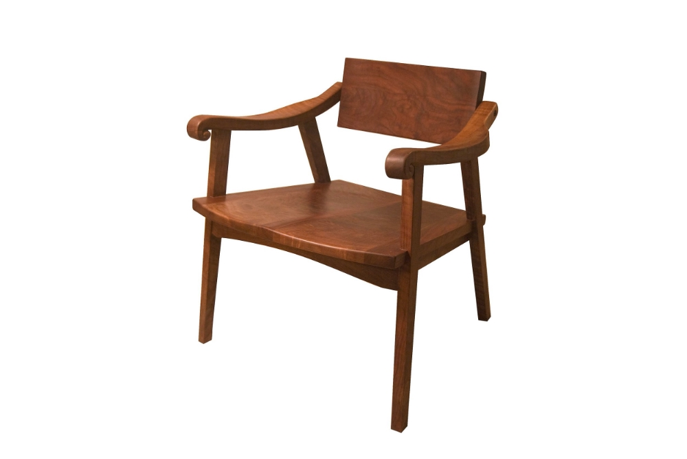 "The nashwood ""Swivel-Back"" Chair, in Claro Walnut, harvested outside Eugene, Oregon."