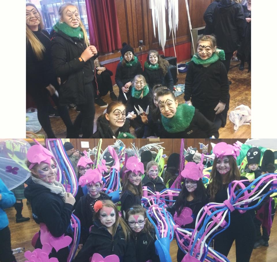 We were lucky enough to be a part of the Big Burns Supper Carnival this year.Thousands lined the streets of Dumfries to see the carnival and we were so happy to be a part of it. Our dancers did us proud! We were even caught on T.V as we made the itv border news!