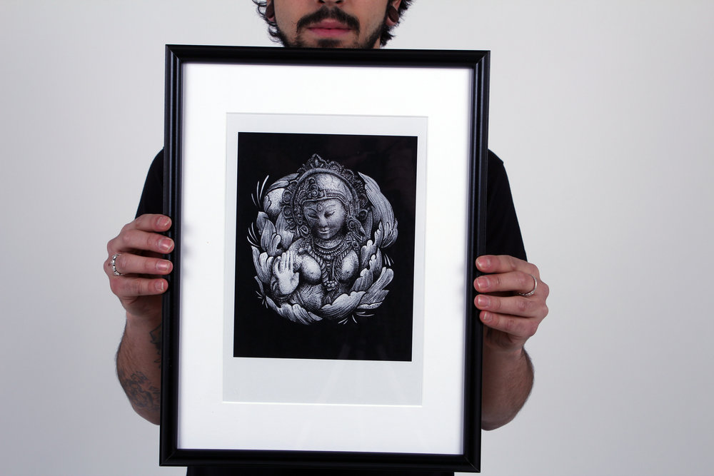 Buddha - Framed Picture by Dotwork Damian — DOTWORK DAMIAN Dotwork ...