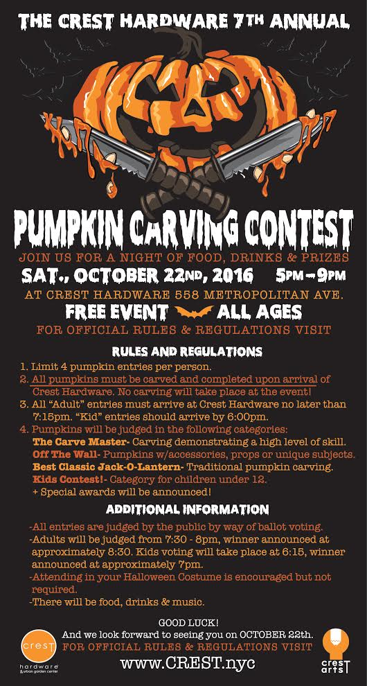 crest pumpkin carving contest