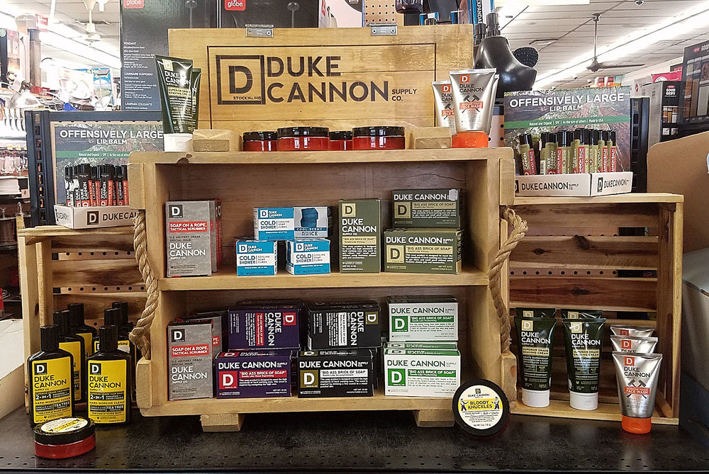 Duke Cannon at Crest Hardware