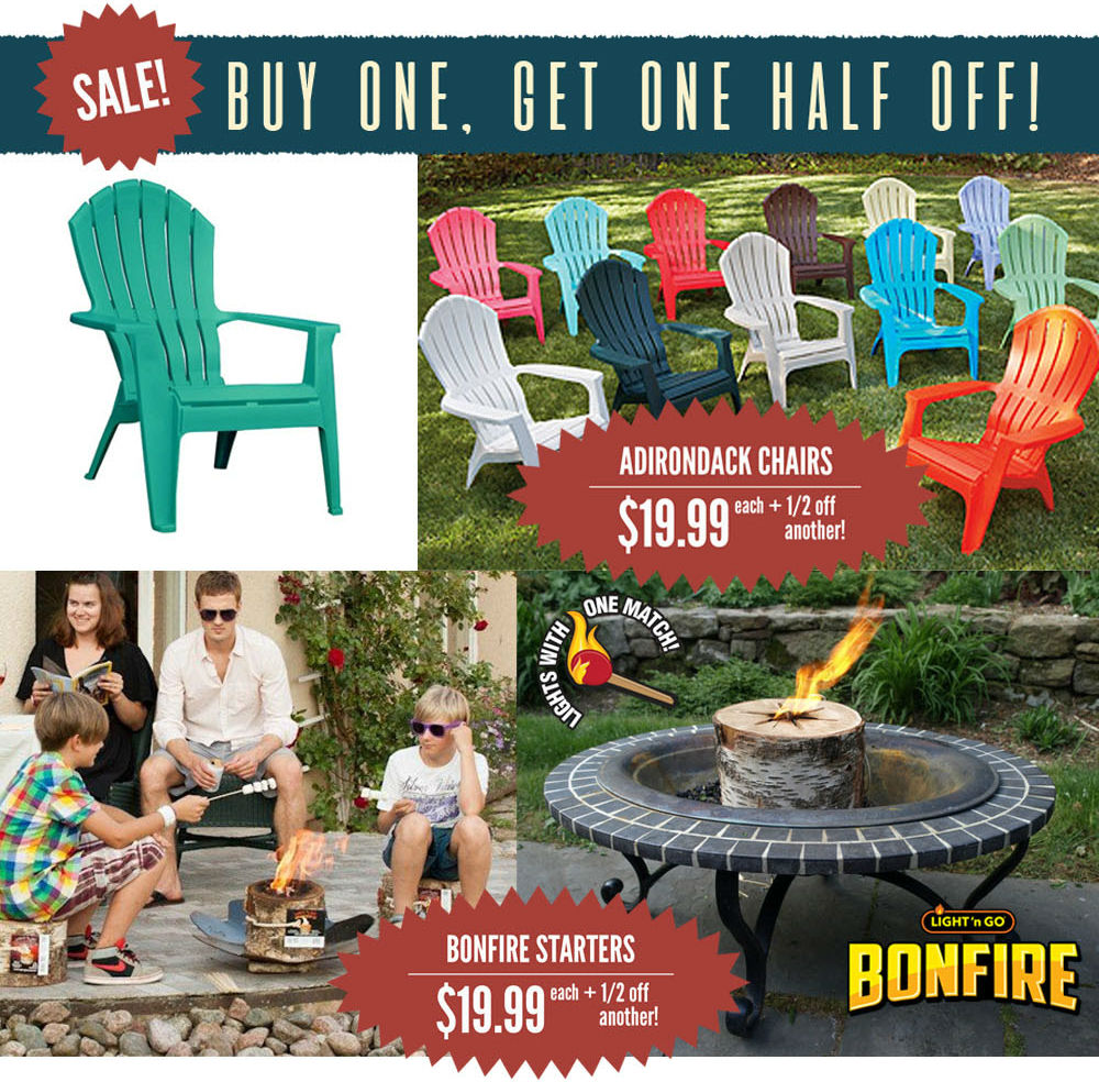 adirondack Chairs bonfire light n go