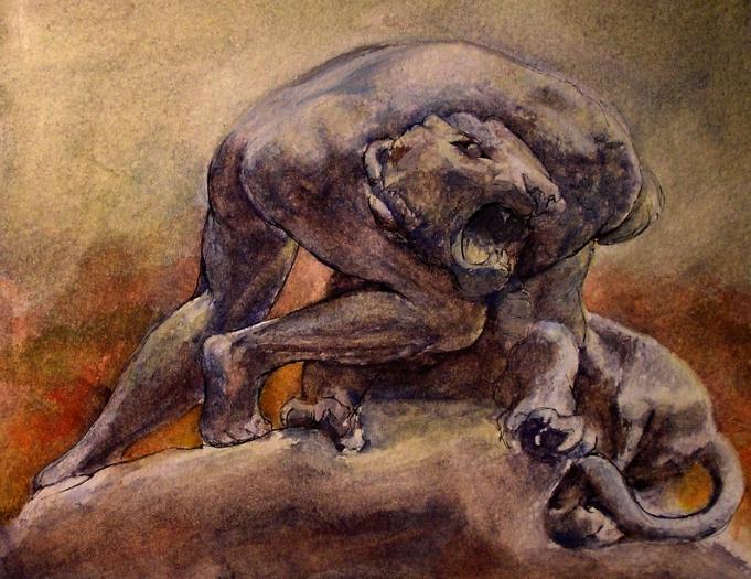 lion trinkamarguasimon