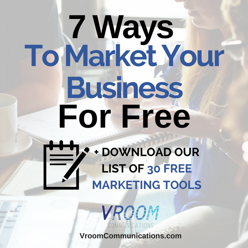 7 ways to market your small business for free