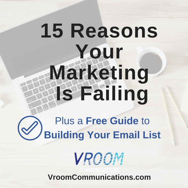 15 reasons your marketing is failing