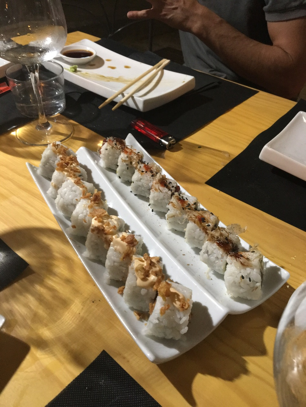 Spicy Tuna and Salmon Roll