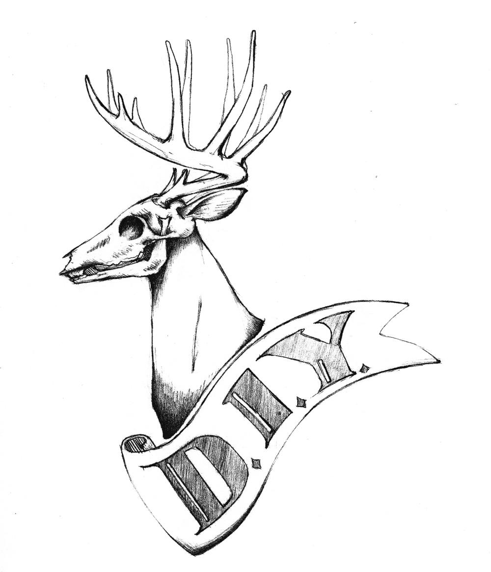DIY Deerskull