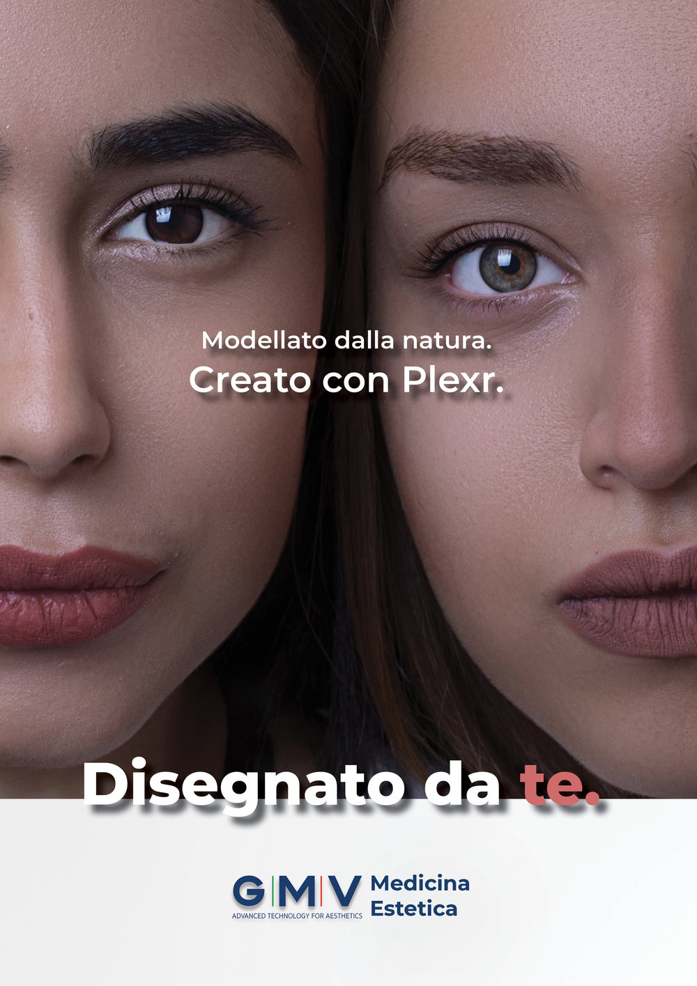 Translation: Shaped by nature. Created with Plexr. Designed by you.