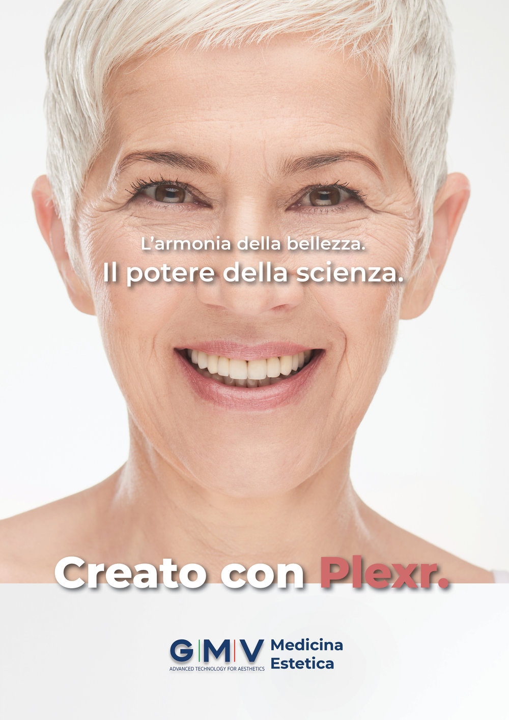Translation: The harmony of beauty. The power of science. Created with Plexr.