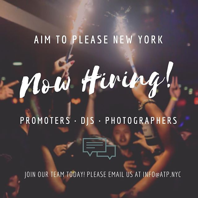 Sociable✅ Proactive✅ Loves to party & make money✅ Interested or know a friend? Send them our way! We'll be checking our inboxes 😉 #atpnyc #newtalent