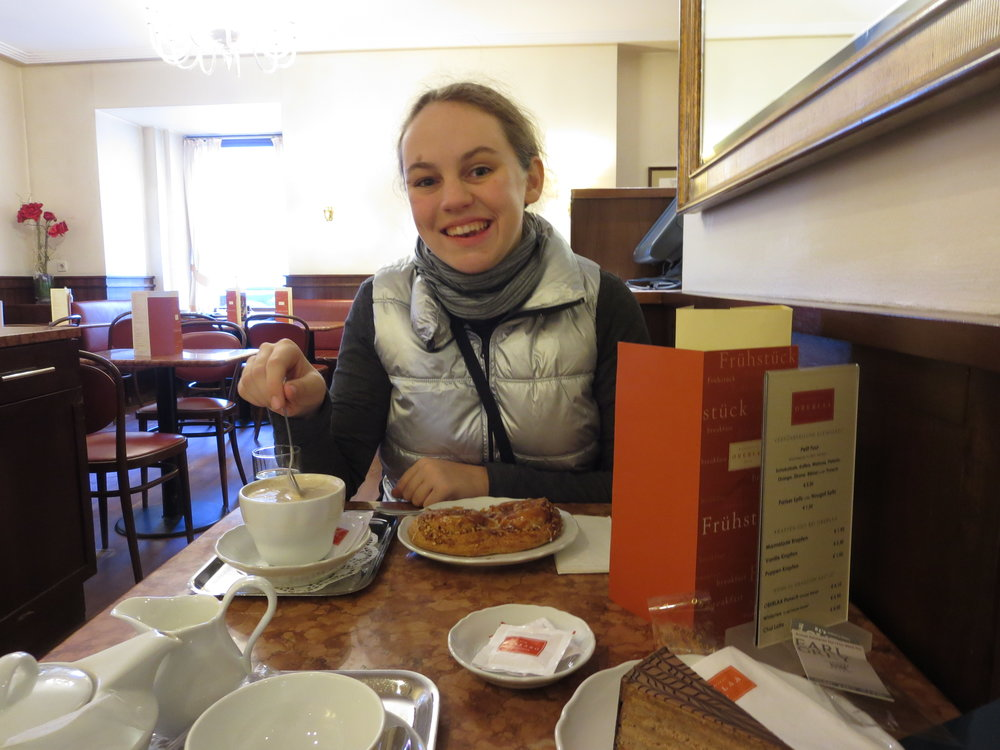 Our first breakfast in Vienna!