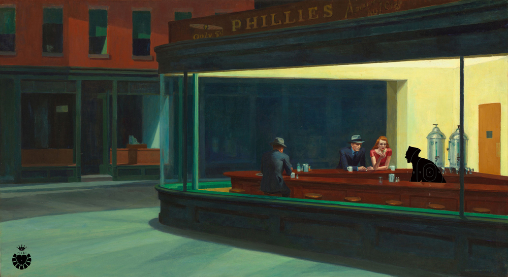 Hopper's Risk / 36 x 65