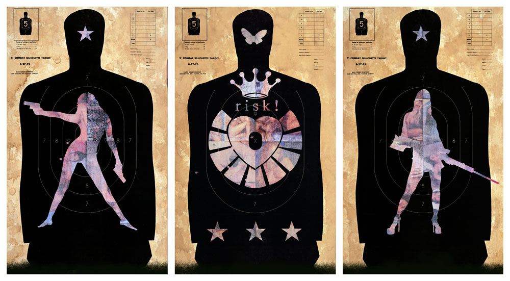 Heart & Crown Combat Targets / 35 x 21 ea / Original Sold