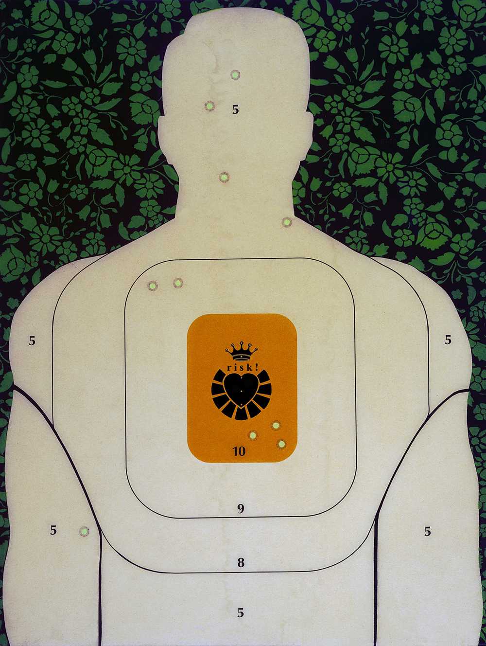 Special Edition Heart & Crown Training Target / 67 x 50 / Original Sold