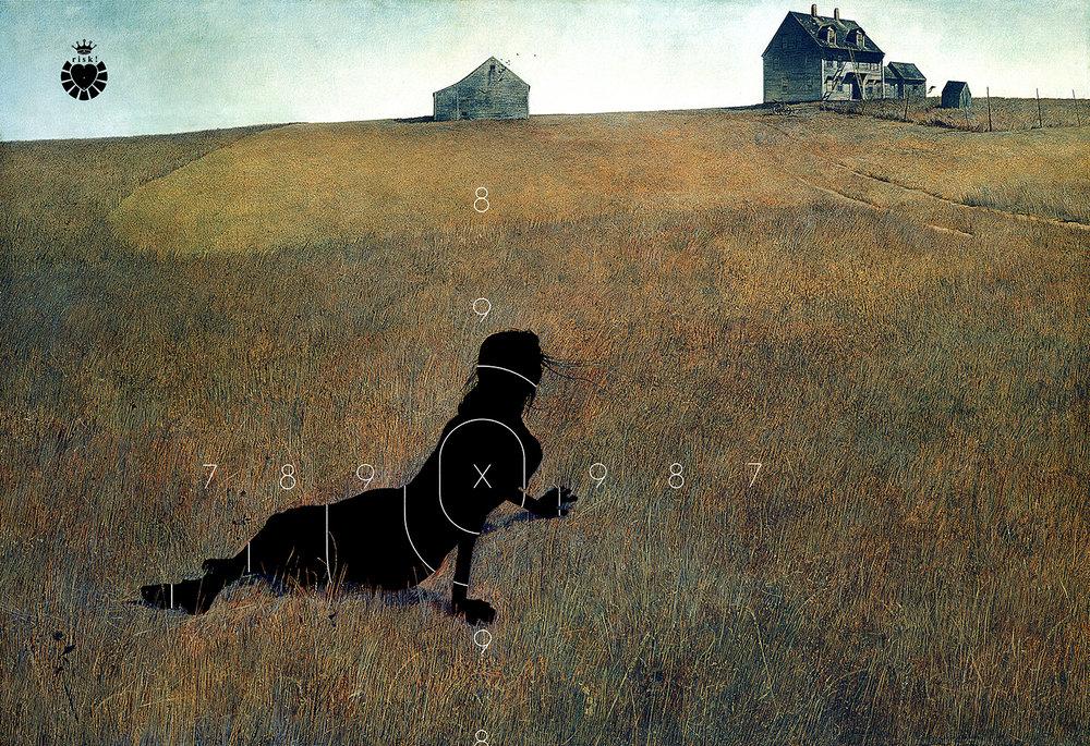 Wyeth's Risk / 36 x 53 / Original Sold