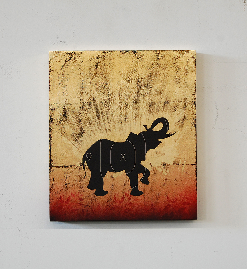 Babar (King of The Elephants) 15 x 13 x 2 / Original Sold