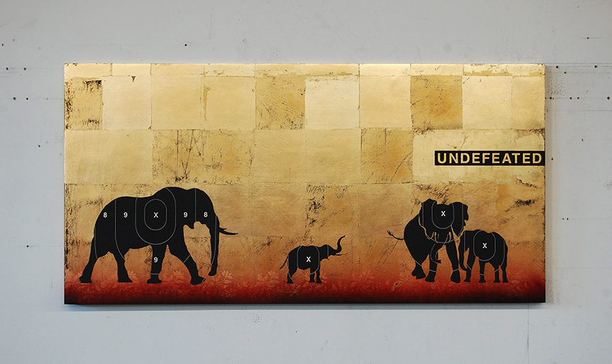 Undefeated / 24 x 48 x 2 inches / Commissioned Original