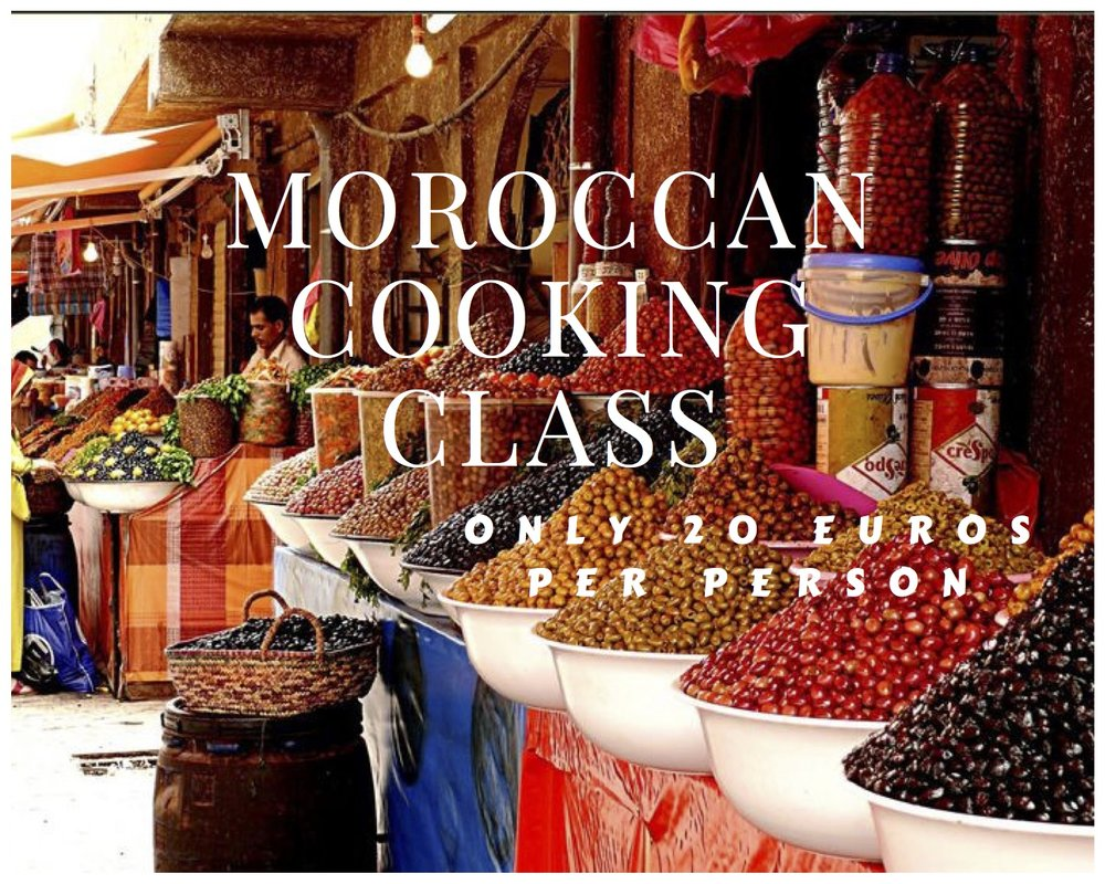 HALF DAY - MOROCCAN COOKING CLASS ONLY