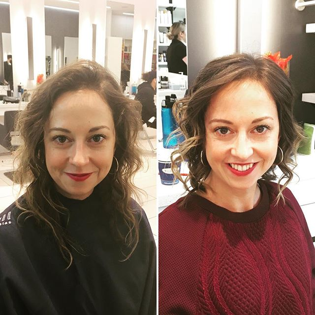#COSA17 prep has officially commenced! (Why is it you only realize how scraggly your hair was once it's gone?!) #chopchop 💇🏻💇🏻💇🏻 Cheers @marces @donatosalonspa #yorkdale & @desiabrill @brillcomm for making this transformation possible! 🥂