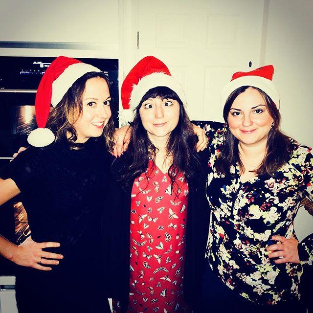 Annual obligatory three-naughty-elves shot. Merry Christmas 🥂🎁🎄🤶🏼