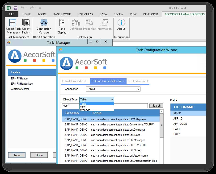 AecorSoft Reporting HANA UI.png