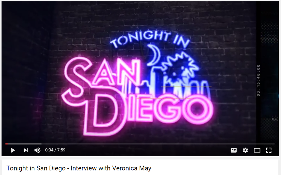 TONIGHT IN SAN DIEGO - INTERVIEW WITH VERONICA MAY