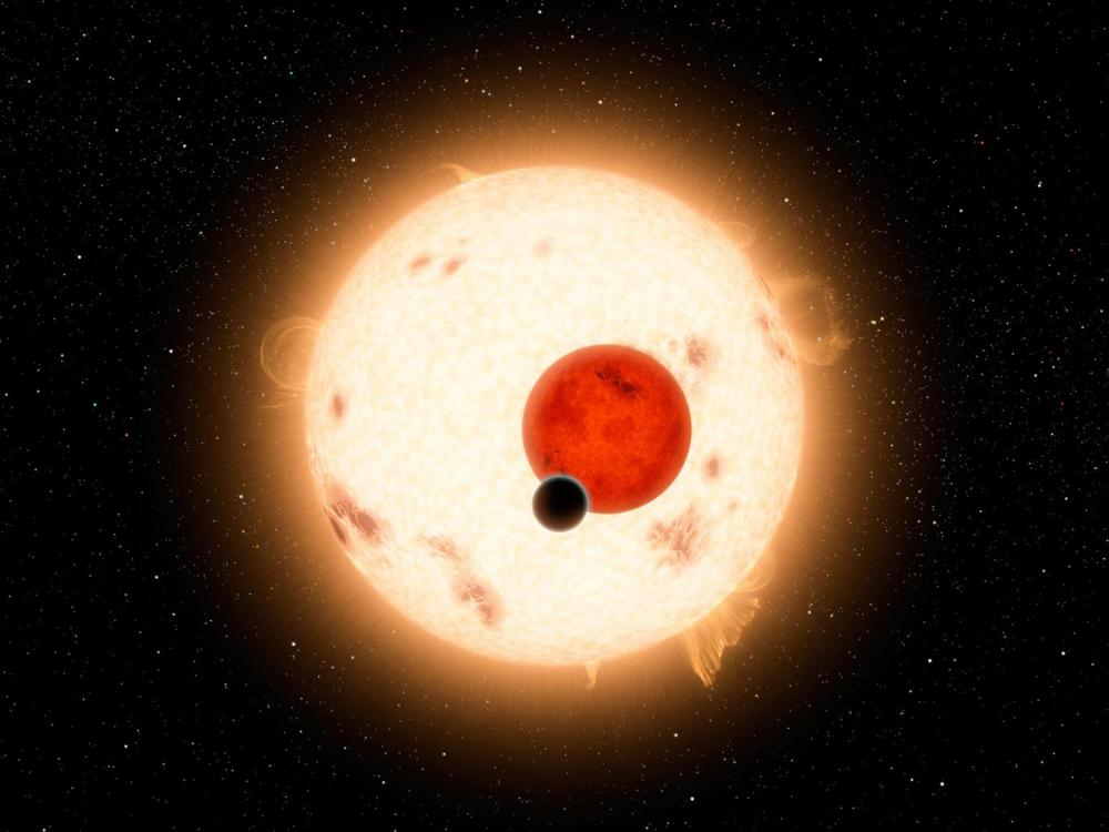 A digital illustration of Kepler-16b, a gaseous planet discovered by the Kepler telescope in 2011 NASA/JPL-Caltech/R. Hurt via Getty Images