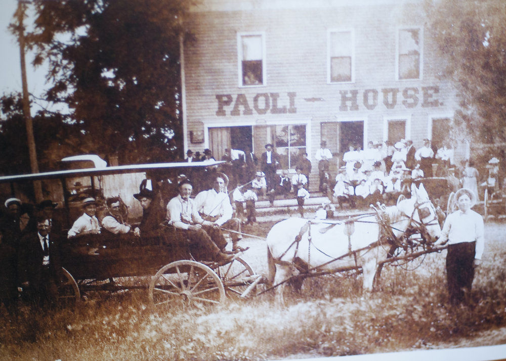 The Paoli House Saloon, and the hardworking people it served.  Image credit: Emily Bartos