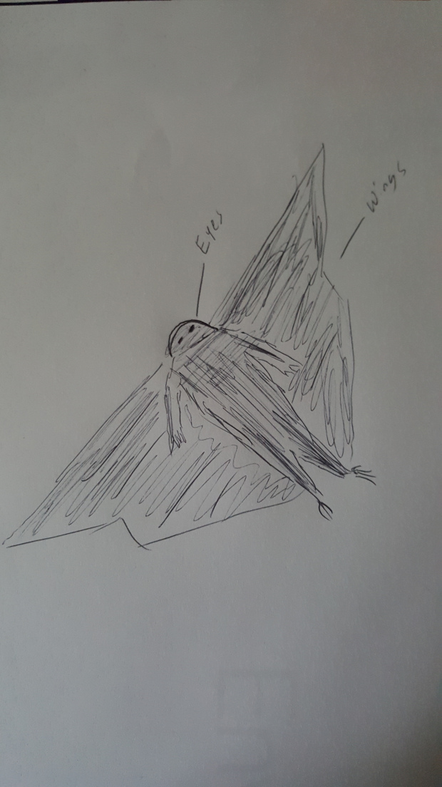 A sketch made by the witness's daughter. (Image credit: UFO Clearinghouse)