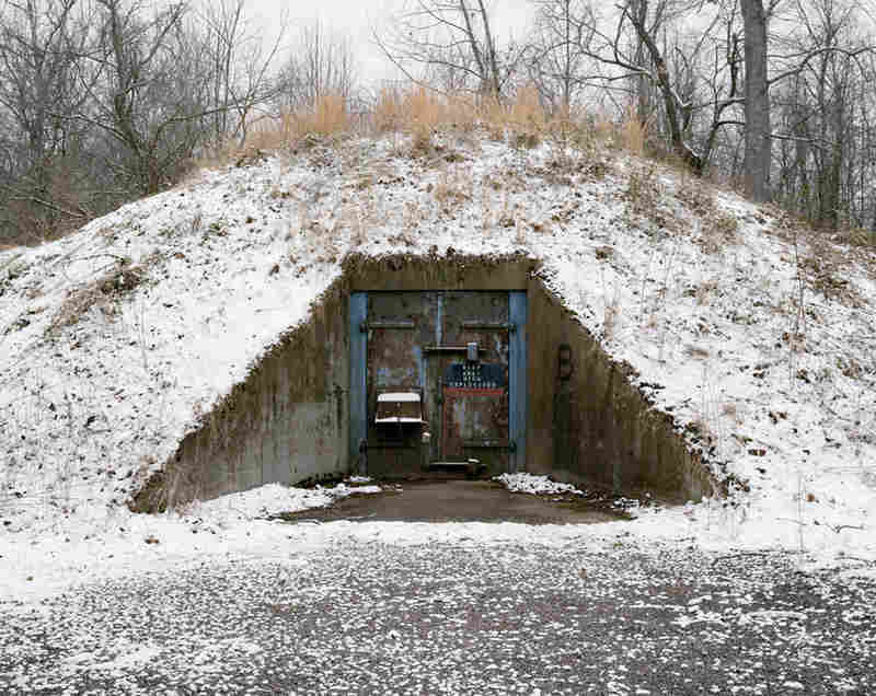 One of the concrete igloos that housed TNT during WWII.