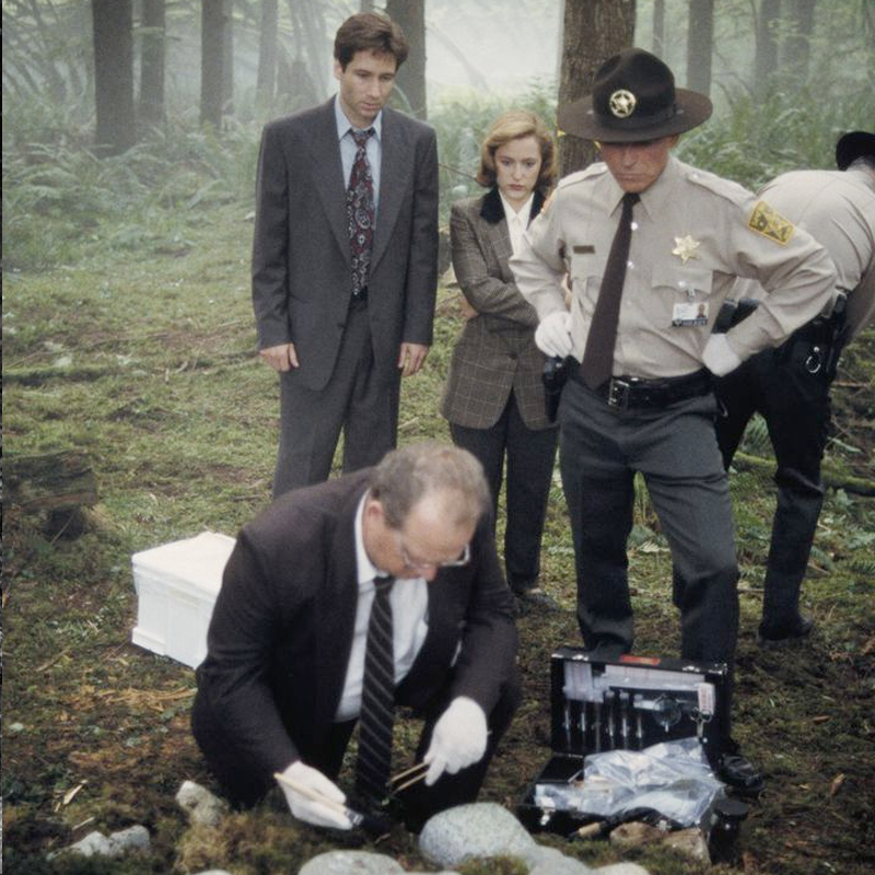 Scene from the fifth episode of The X-Files' first season, titled 'The Jersey Devil.'