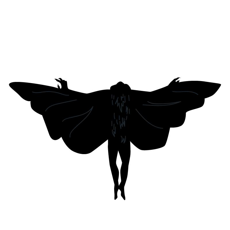 "Artist's interpretation of the ""bat-like"" McCook creature."