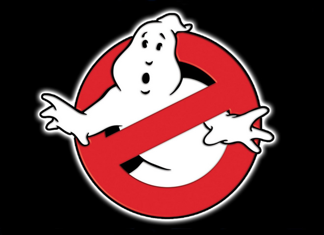 The iconic  Ghostbusters  logo designed by Michael C. Gross.
