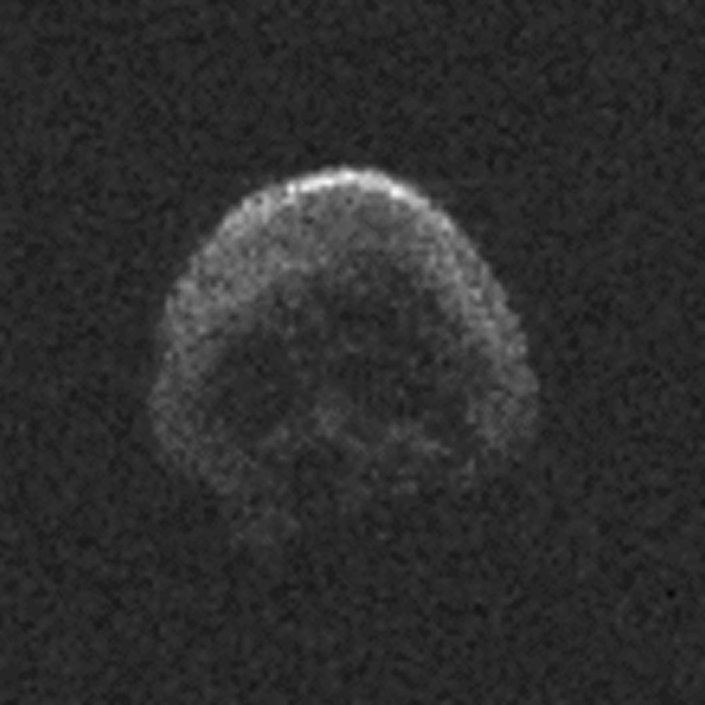 Asteroid TB145 bears a strange resemblance to a skull from certain angles.