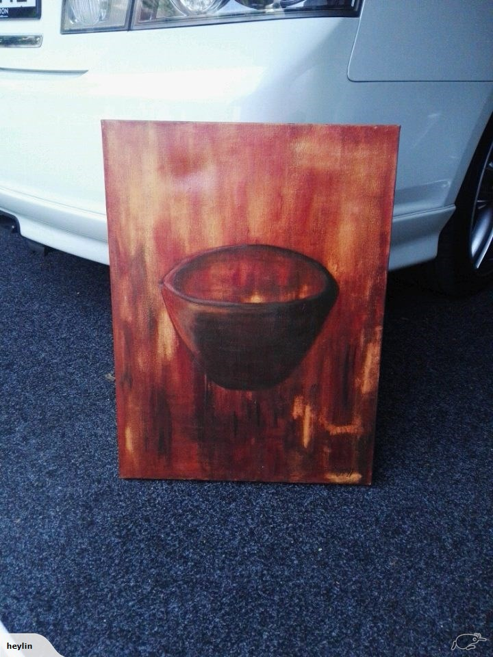 An image of the reportedly haunted art posted to Trade Me.
