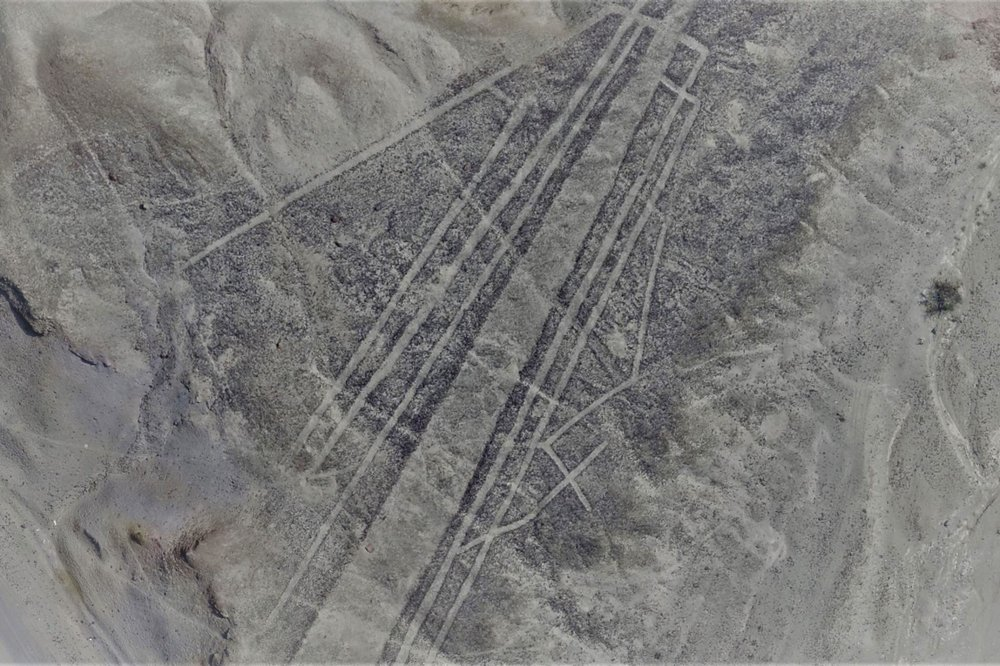 An image of the newly-discovered Nazca lines, which are too fine to be easily seen by the human eye, but are visible to low-altitude drones.   (Image credit: Luis Jaime Castillo, Palpa Nasca Project)