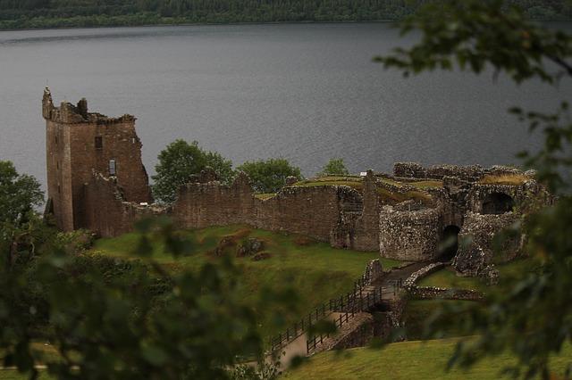 Urquhart Castle overlooking Loch Ness.