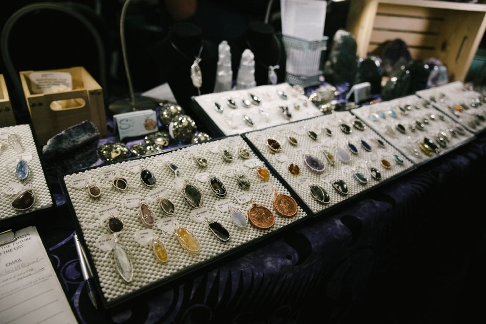 Silver and Stone offers handmade wire-wrapped jewelry and a variety of crystals with various properties.