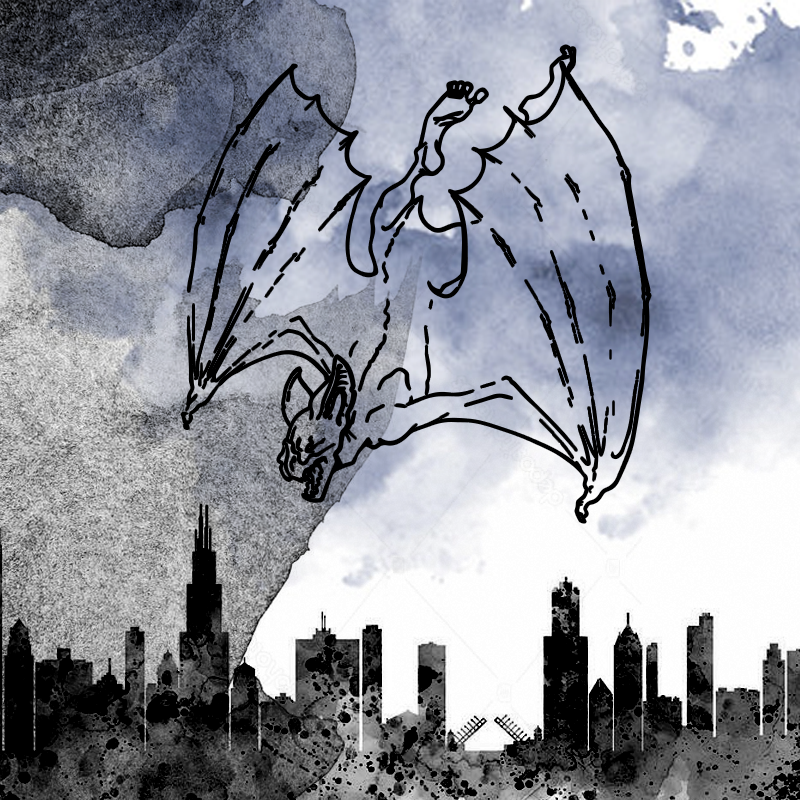 An artist's depiction of the Mothman. (Image credit: cryptidz.wikia.com)