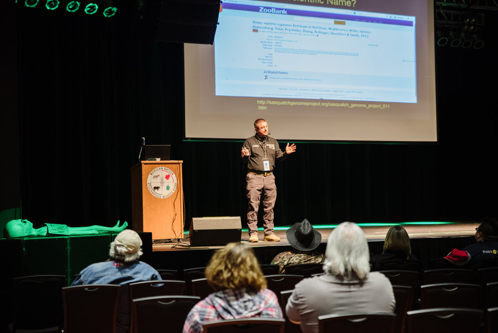 Troy Hudson of the Oklahoma Bigfoot Field Researchers Organization kicked things off on Friday.