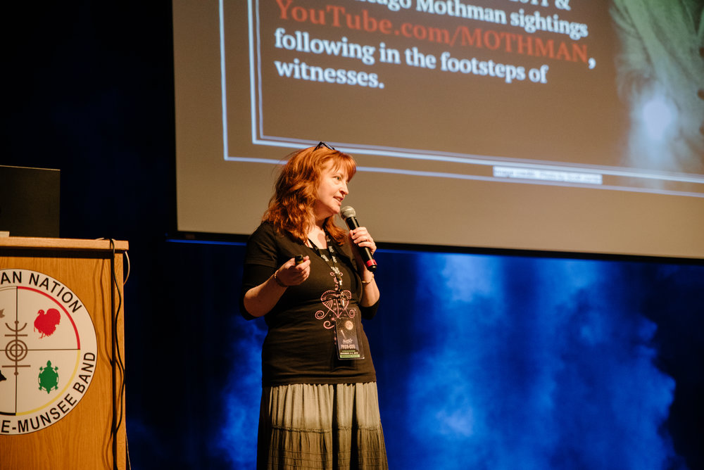 Fortean investigator Allison Jornlin presented her work unraveling the recent series of Mothman sightings in Chicago.