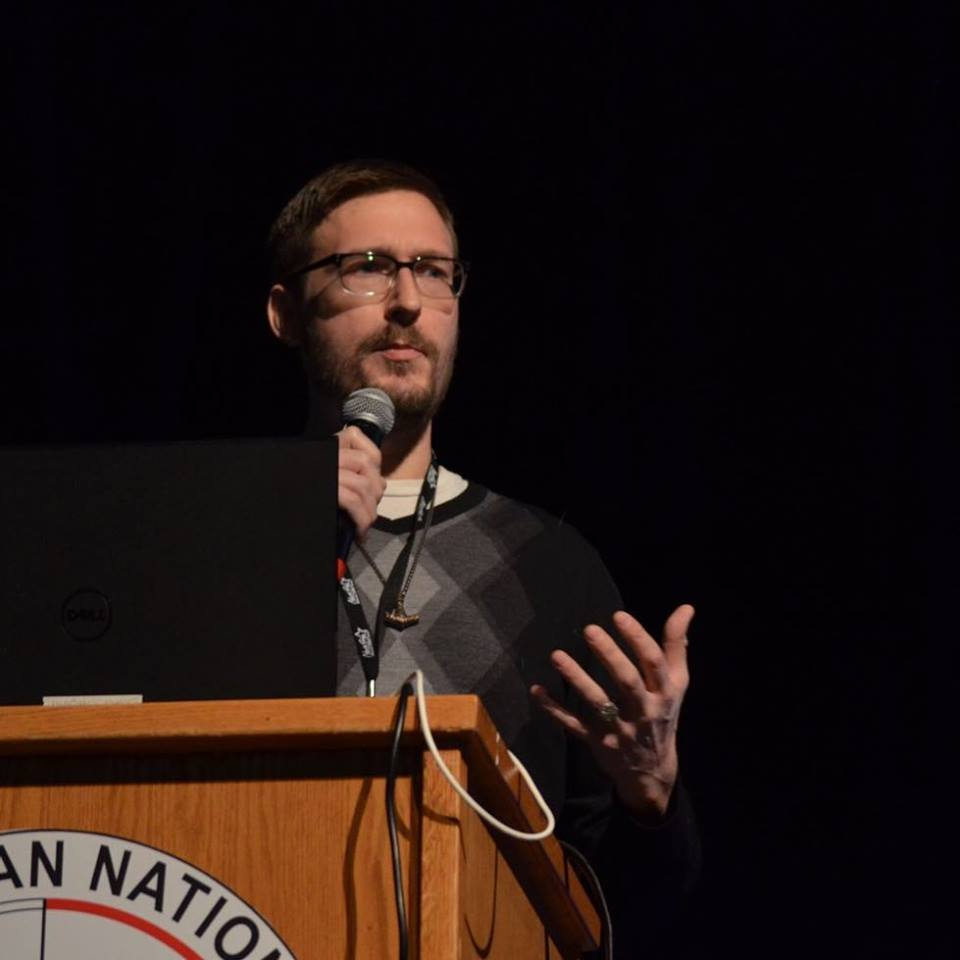 Tobias Wayland talked about his work investigating Mothman sightings around Lake Michigan.