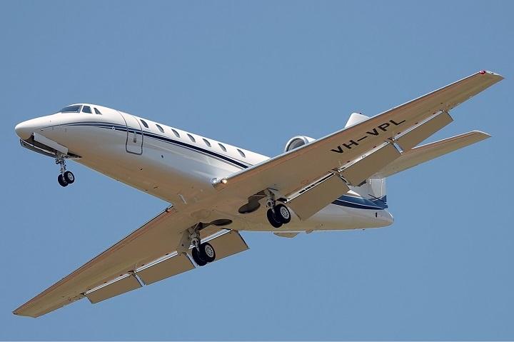A Cessna 680 Citation Sovereign.