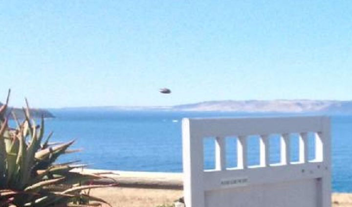 A cropped and enlarged version of the object in Isaacson's photo.  (Image credit: Andrew Isaacson / Facebook)
