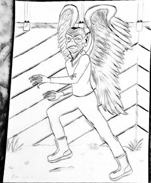 A sketch of the creature.  (Image credit: Bet Dotson)