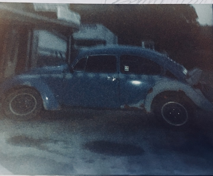 A photo of Dotson's VW Beetle taken shortly after the incident.  (Image credit: Bet Dotson)