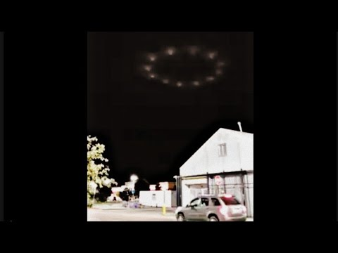 A still image from a 2018 video wherein a witness mistakes the casino's lights for a UFO hovering over the local Walmart.