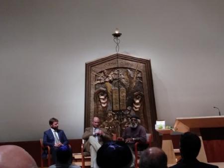 Rev. Ryan Sirmons, Rabbi Ari Goldstein, Imam Hassan Amim  Temple Beth Shalom Arnold, MD